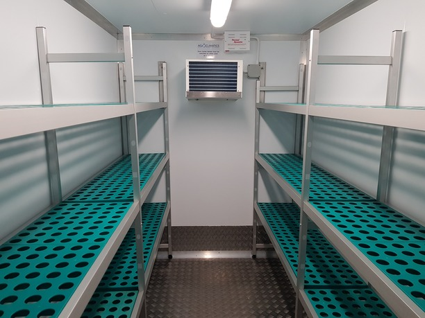 Inside refrigerated Trailer Exeter